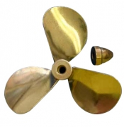 Propeller Mässing 3-Blad Höger 75mm