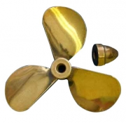 Propeller Mässing 3-Blad Höger 62,5mm