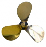 Propeller Mässing 3-Blad Vänster 44mm