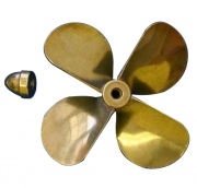 Propeller Mässing 4-blad Höger 84mm