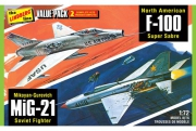 Vietnam Era Fighters (F-100 Supersabre & Mig-21BD) 1/72