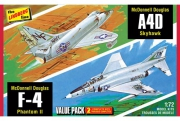 Vietnam Era Fighters (F-4G Phantom & A4D Skyhawk) 1/72