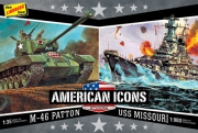 WWII M-46 Patton Tank & USS Missouri 2-pack