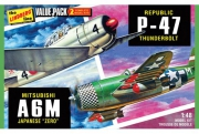 WWII Adversaries (P-47 Thunderbolt & Japanese Zero) 1/72