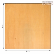 Basswood Plywood 2.0x915x915 mm 3-ply