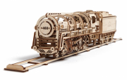 Ugears Steam Locomotiv with Tender